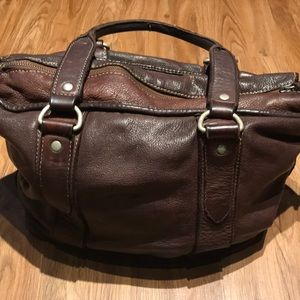 Handbags - Brown Leather Tote by Country Road